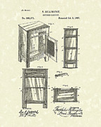 China Drawings - Kitchen Cabinet 1882 Patent Art by Prior Art Design