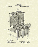 Houston - Texas Posters - Kitchen Cabinet 1889 Patent Art Poster by Prior Art Design