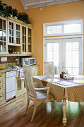 Wood Floors Prints - Kitchen Cabinets and Table Print by Andersen Ross