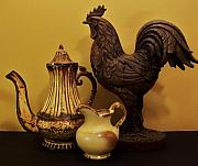 Rooster Photos - Kitchen Decor by Marsha Heiken
