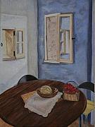 Kitchen In Les Baux Print by Cynthia Ablicki