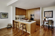 Flooring Prints - Kitchen in Upscale Condo Print by Andersen Ross