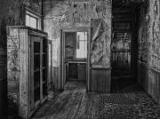 Miners Ghost Prints - Kitchen Interior - Bannack Ghost Town -  Montana Print by Daniel Hagerman