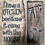 Joyce Woodhouse Art - Kitchen by Joyce Woodhouse