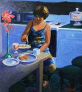 Eating Paintings - Kitchen Meal by Kevin Lawrence Leveque