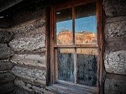 Matt Suess Prints - Kitchen Mesa window reflection Print by Matt Suess