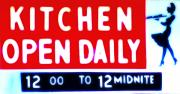 Kitchen Digital Art Posters - Kitchen Open Daily Poster by Bill Cannon