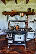 Vintage Appliance Posters - Kitchen - The Vintage Stove Poster by Paul Ward