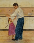 Daughter Paintings - Kitchen Waltz by Robert Casilla