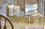 Shopping Bags Prints - Kitchen with Groceries Print by Andersen Ross