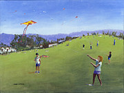 Struggling Painting Prints - KIte Festival Print by Peter Worsley