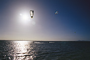 Kites Photos - Kite Surfers Enjoying A Day by Jason Edwards
