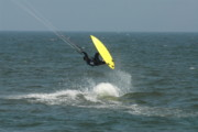 Surfboard Posters Framed Prints - Kite Surfing 10 Framed Print by Joyce StJames