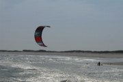Surfboard Posters Framed Prints - Kite Surfing 17 Framed Print by Joyce StJames