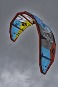 Kite Surfing Metal Prints - Kite Surfing Metal Print by Douglas Barnard