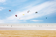 Kiteboarding Art - Kiteboarder Paradise by Richard Newstead