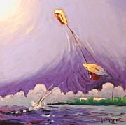 Kiteboarding Print by Matthew Stennett