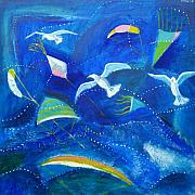 Aliza Souleyeva-Alexander - Kites and seagulls over...