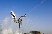 Kitesurfing Print by Hagai Nativ