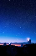 University Of Arizona Art - Kitt Peak National Observatory At Night by David Nunuk