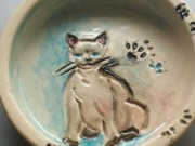 Food Ceramics - Kitten Bowl by Susan Bornstein