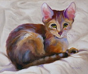 Animal Drawings Prints - Kitten Princess Print by Susan A Becker