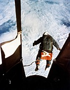 Free Person Prints - Kittinger Print by SPL and Photo Researchers