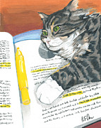 Homework Paintings - Kitty Highlights by Steve Teets