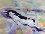 Tuxedo Originals - Kitty on Quilt by Carol Berning