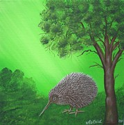 Kiwi Painting Prints - Kiwi Print by Astrid Rosemergy