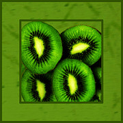 Kiwi Art Art - Kiwi Fruit  by Daryl Macintyre
