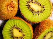 Kiwi Digital Art Prints - Kiwi Fruit Print by Nancy Mueller