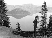 Crater Lake Framed Prints - KLAMATH CHIEF, c1923 Framed Print by Granger