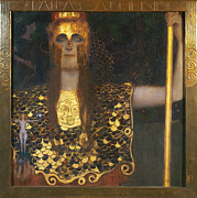 Fine Art  Of Women Painting Posters - Klimt - Pallas Athena 1898 Poster by Granger
