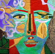Diane Fine Metal Prints - Klimt Face Metal Print by Diane Fine
