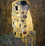 Klimt Metal Prints - Klimt: The Kiss, 1907-08 Metal Print by Granger