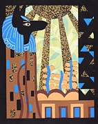 Egypt Reliefs - Klimts Paper Anubis by Sarah Durbin