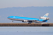 Boeing 767 Prints - KLM Royal Dutch Airlines Jet Airplane At San Francisco International Airport SFO . 7D12157 Print by Wingsdomain Art and Photography