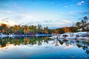 Saint Charles Prints - Klondike Park Autumn Lake Print by Bill Tiepelman