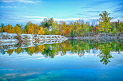 Saint Charles Prints - Klondike Park Quarry Lake Print by Bill Tiepelman