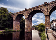 John Adams Digital Art Framed Prints - Knaresborough viaduct Framed Print by John Adams
