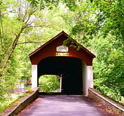 Hemlock Prints - Knechts Covered Bridge Print by Paul Ward