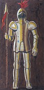 Gold Glove Paintings - Knight by Dina Day