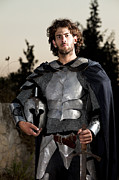 Young Man Posters - Knight In Shining Armour Poster by Yedidya yos mizrachi