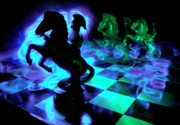 Chessboard Posters - Knight Moves Poster by Barbara  White