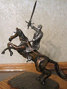 Fantasy Sculptures - Knight on Horseback by Mike Murphy
