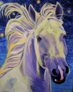 Equine Artist Prints - Knights in White Satin Print by Anne West