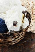 Knitting Needles Print by Stephanie Frey