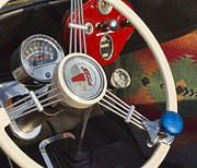Classic Ford Roadster Prints - Knobs and Guages Print by Peter Chilelli