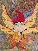 Faery Posters Paintings - Knock Knock by FaerieBlueMoon Creations Tressure Hardcastle